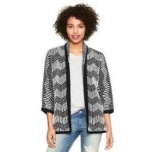 Gap Chevron Wool Long Sleeve Cardigan